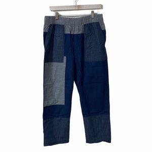 Gap Jean Patchwork Straight Leg Pants | Large